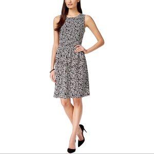 Ivanka Trump Printed Sleeveless Fit & Flare Dress